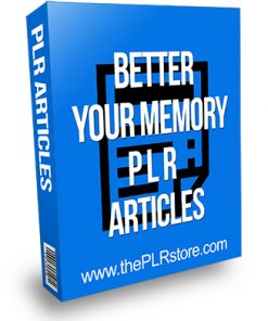 Better Your Memory PLR Articles