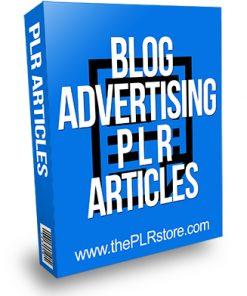 Blog Advertising PLR Articles