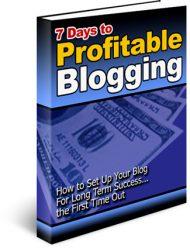 blog-cover2  7 Days to Profitable Blogging PLR Ebook blog cover2 190x248