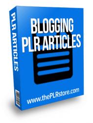 Blogging PLR Articles
