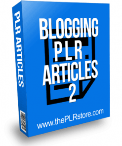 Blogging PLR Articles 2 with Private Label Rights