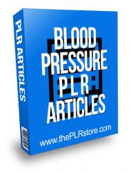 Blood Pressure PLR Articles