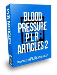 Blood Pressure PLR Articles 2