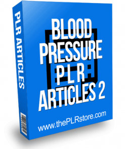 Blood Pressure PLR Articles 2