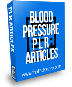 Blood Pressure PLR Articles