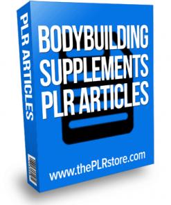 bodybuilding supplements plr articles