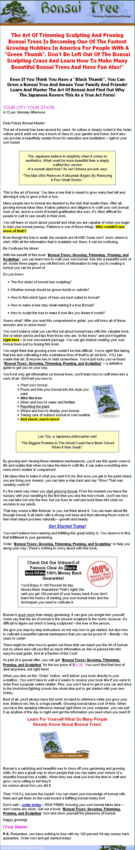 Bonsai Tree Plr Ebook Private Label Rights