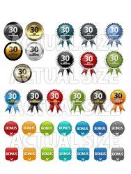 bonus-buttons-30-day-plr-graphics  Bonus Buttons and 30-Day Guarantee PLR Graphics bonus buttons 30 day plr graphics 188x250