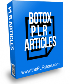Botox PLR Articles