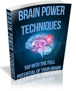 Brain Power Techniques PLR Ebook