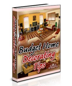 budget home decorating plr ebook
