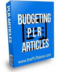Budgeting PLR Articles