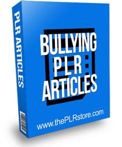 Bullying PLR Articles