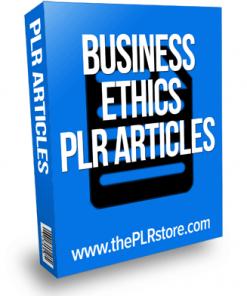 business ethics plr articles