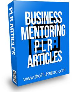 Business Mentoring PLR Articles