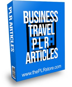 Business Travel PLR Articles