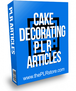 Cake Decorating PLR Articles with Private Label Rights
