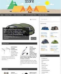 Camping PLR Amazon Affiliate Website