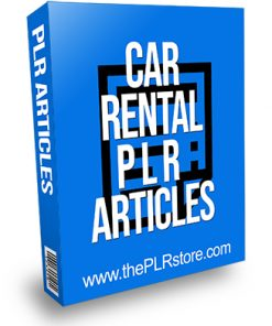Car Rental PLR Articles