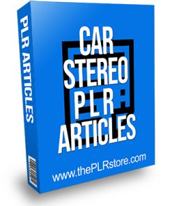 Car Stereo PLR Articles