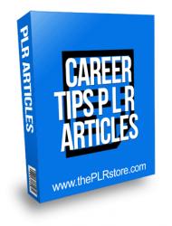 Career Tips PLR Articles