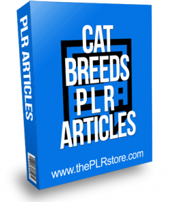 Cat Breeds PLR Articles