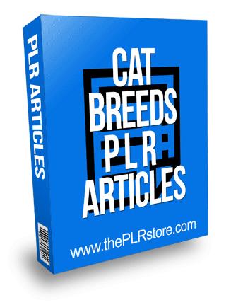 Cat Breeds PLR Articles