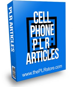 Cell Phone PLR Articles