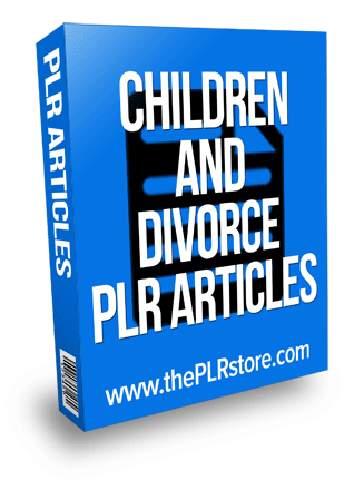 children and divorce plr articles