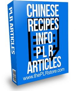Chinese Recipes PLR Articles