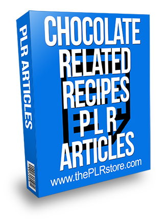 Chocolate Related Recipes PLR Articles