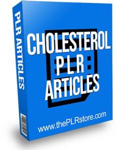 Cholesterol PLR Articles