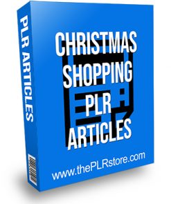 Christmas Shopping PLR Articles