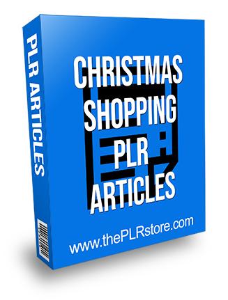 Christmas Shopping PLR Articles