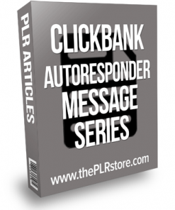 Clickbank Autoresponder Series PLR Messages