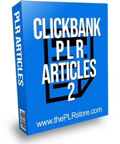 Clickbank PLR Articles 2