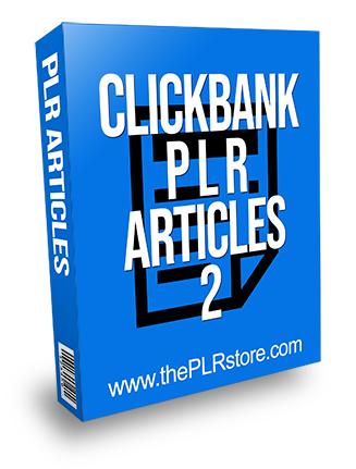 Clickbank PLR Articles 2