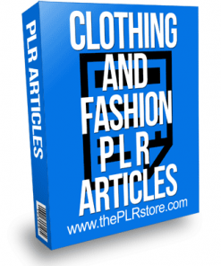 Clothing and Fashion PLR Articles