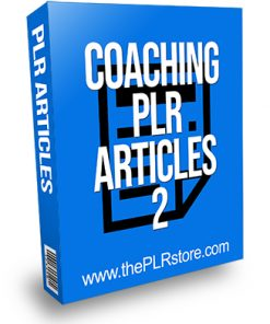 Coaching PLR Articles 2