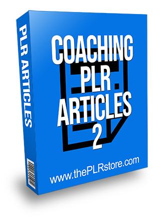 Coaching PLR Articles 2
