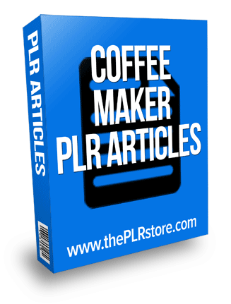 coffee maker plr articles