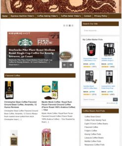 Coffee PLR Amazon Turnkey Store Website