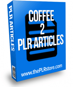 coffee plr articles