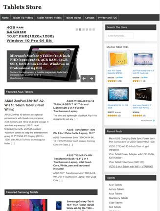 computer tablets plr website amazon store