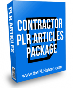 Contractor PLR Articles Package For Offline Marketing