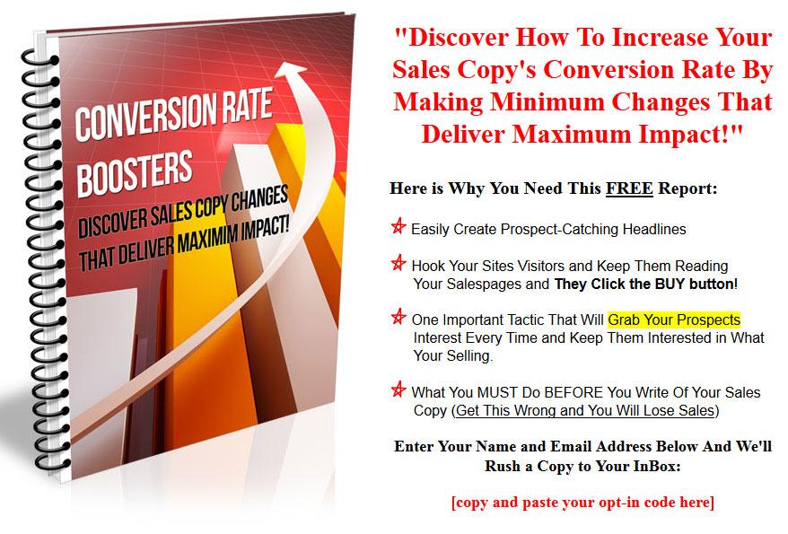 Conversion rate booster plr listbuilding report Rate your builder