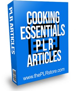Cooking Essentials PLR Articles