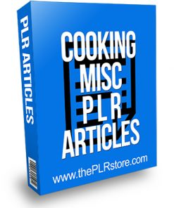 Cooking Misc PLR Articles