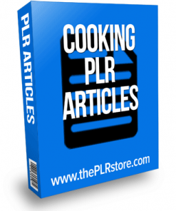 Cooking PLR Articles