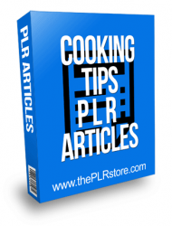 Cooking Tips PLR Articles